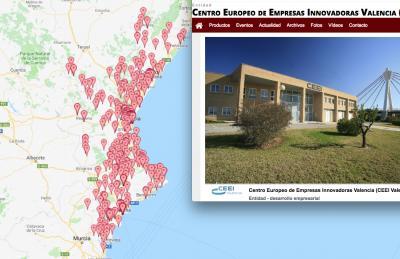 Mapa Emprendimiento CEEI Valencia