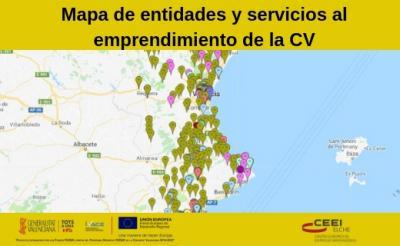 El mapa d'Emprenedoria segueix creixent a la província d'Alacant