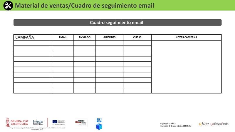 24 - Cuadro Seguimiento Email