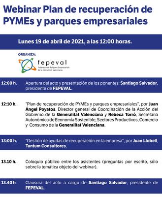 Plan de recuperación de PYMEs y parques empresariales