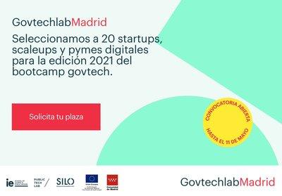 Convocatoria '2ª edición Bootcamp Govtechlab Madrid'